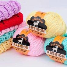 цена на 500g  5 pieces   Organic Cashmere Wool Children's Baby Thread Hand-Woven Jacket Full Pure Cotton Wire Yarn Lot yarn crochet