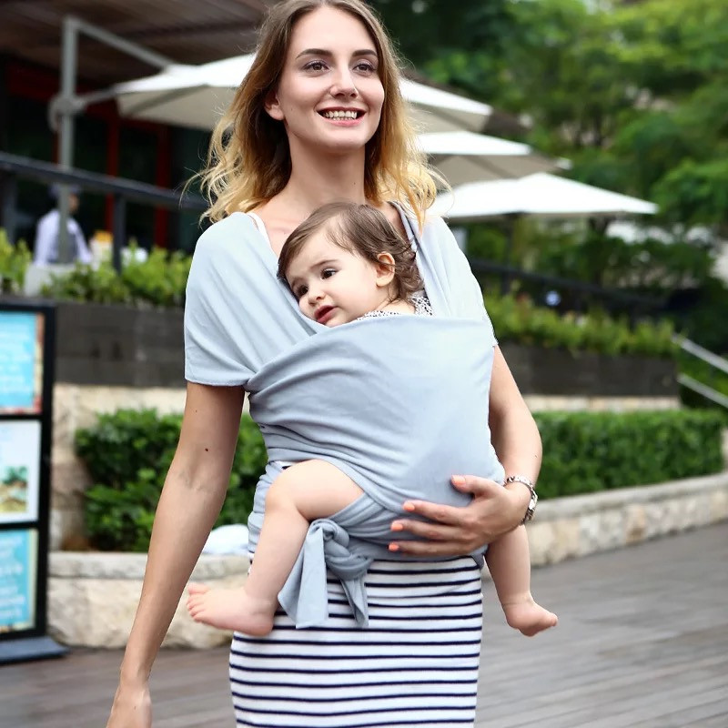 Baby Carrier Sling For Newborns Infant Soft Wrap Cotton Breathable Wrap Hipseat Breastfeed Birth Comfortable Nursing Cover