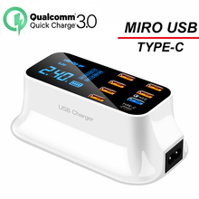NEW 8 Port QC3.0 Fast Charger for Iphone Samsung Huawei Xiao