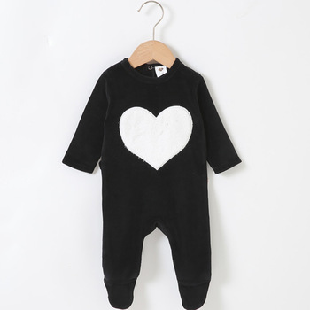 Baby romper pyjamas kids clothes long sleeves children clothing heart star baby overall children boy girl clothes footies romper 1