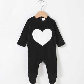 Baby romper pyjamas kids clothes long sleeves children clothing heart star baby overall children boy girl clothes footies romper - DISCOUNT ITEM  0% OFF All Category
