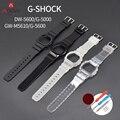 Gummi Armband Fall für Casio G Schock DW 5600 GW M5610 G 5600 G 5000 Ersatz Transparent Band Armband Armband Zubehör-in Uhrenbänder aus Uhren bei