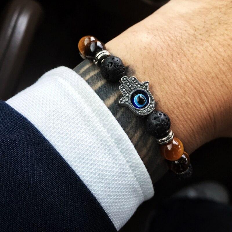 Charm Bracelet Men Natural Stone Beads Couple Bracelets for Women Hand Accessories Yoga Chakra Reiki Bracelets Fashion Jewelry