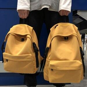 Image 1 - Nowy wodoodporny nylonowy plecak damski Japan Style solidne plecaki moda Mochila Feminina Mujer torba podróżna nastoletnia dziewczyna tornister
