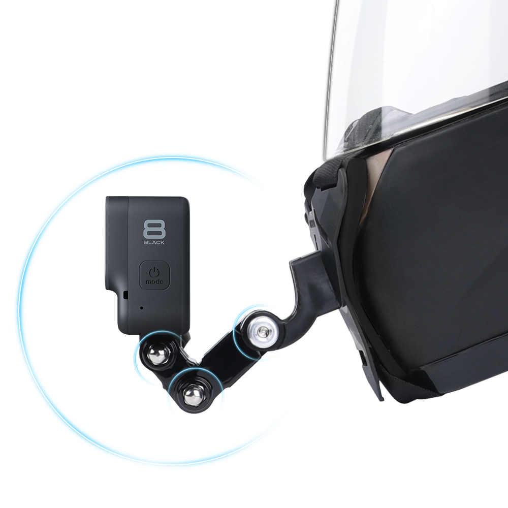 Kask motocyklowy podbródek uchwyt do montażu na stojaku GoPro Hero 8 7 6 5 4 3 Xiaomi Yi Action aparat sportowy uchwyt na całą twarz akcesoria