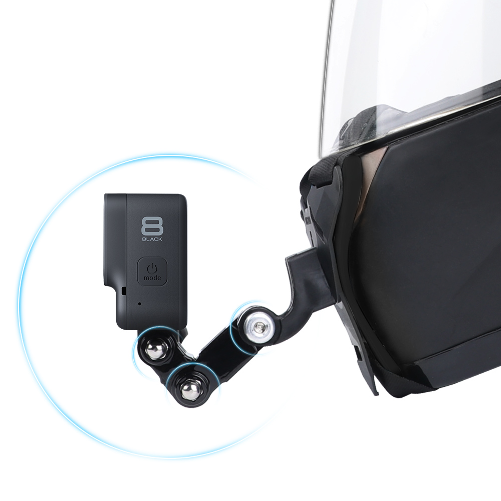 Motorcycle Helmet Chin Stand Mount Holder for GoPro Hero 8 7 6 5 4 3 Xiaomi Yi Action Sports Camera Full Face Holder Accessory 2