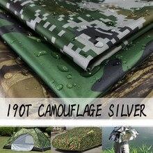 Tissu imperméable en Poly et argent PU, taille 100cm x 150cm, 190t, 1500mm, imprimé de Camouflage, graffiti