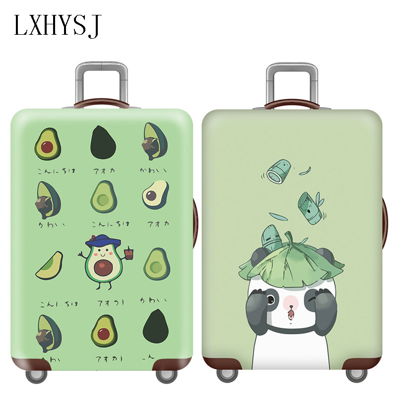 Cute 3D Drop Pattern Luggage Protector Travel Luggage Cover Trolley Case Protective Cover Fits 18-32 Inch