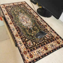 XGZ Anti-slip Retro Style Persian Carpet Locking Edge Mousepad Keyboard Home Large  Mouse Pad Office Table Decor Craft Muismat