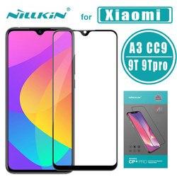 Dla Xiao mi mi A3 ochraniacz ekranu ze szkła hartowanego Nillkin CP + PRO pełna pokrywa szklana dla Xiao mi mi 9T 9T Pro CC9 mi x3 Poco F1 szkło