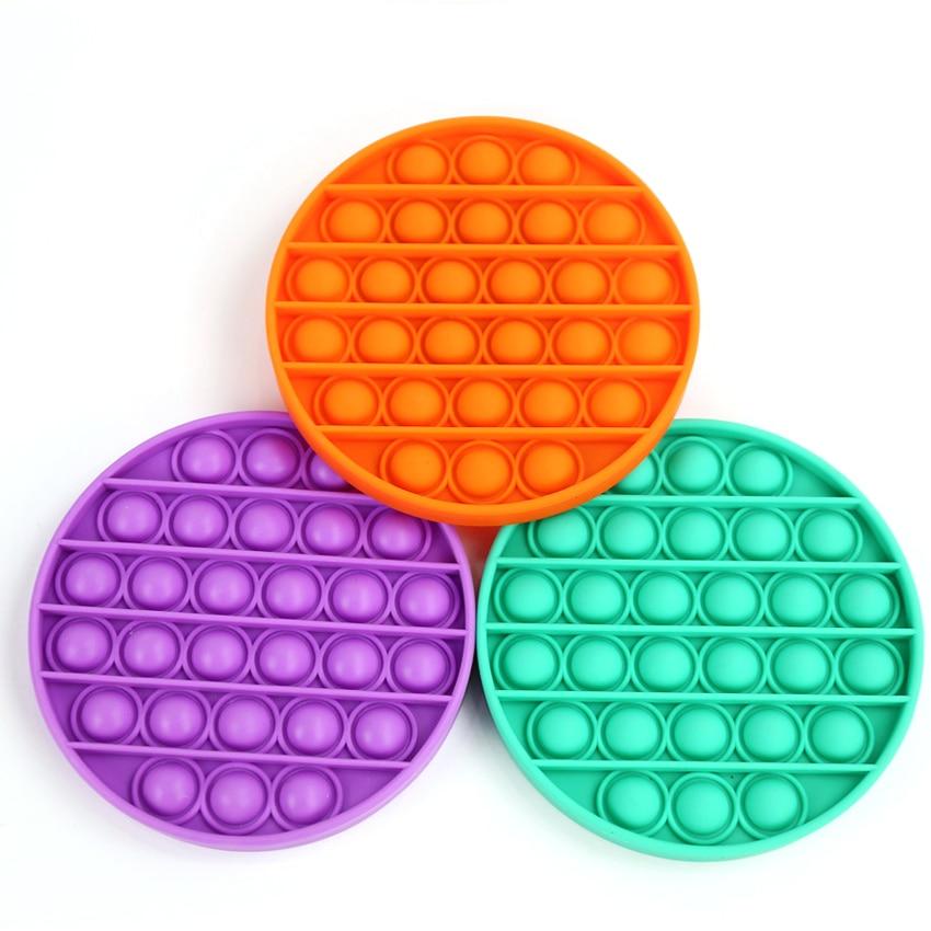 Красочные непоседы пузырьки сенсорные сжимаемые снятие стресса для аутизма нужен антистресс Pop It Радуга игрушки для взрослых и детей - Симпл Димпл