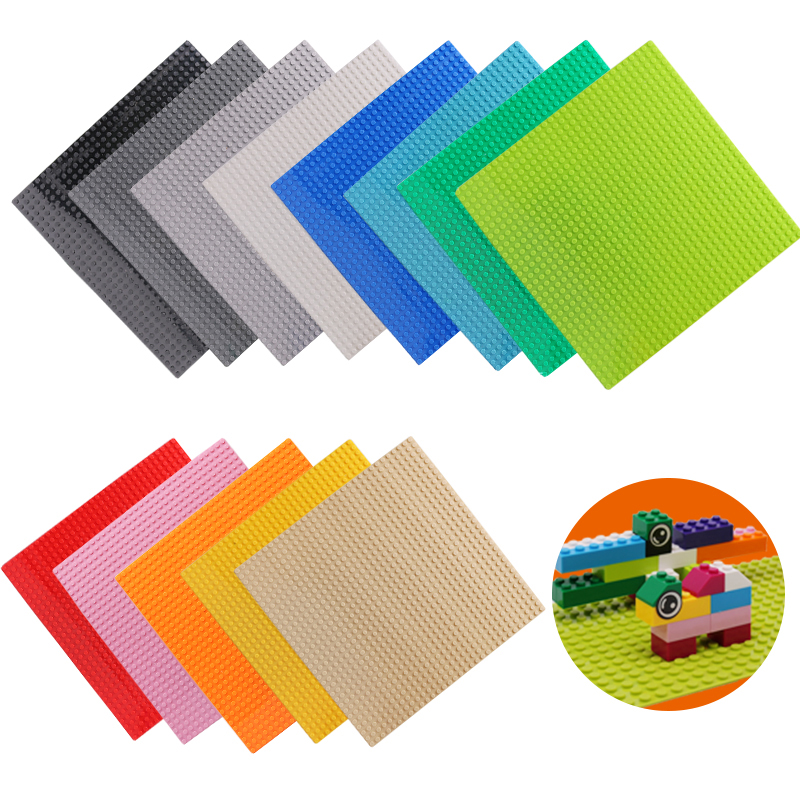 4 Size 33 Styles Plastic Assembly Blocks Base Plates Figures City Classic Toys Building Blocks Baseplates Toys For Children Gift