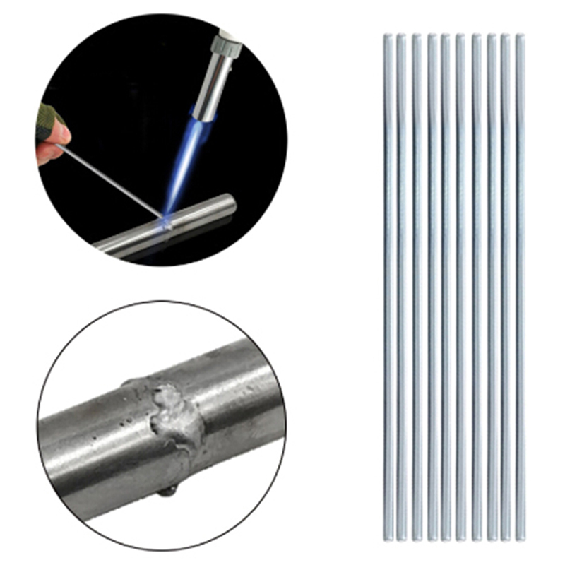 10pcs 500mm 330mm Aluminum Welding Electrodes Flux Cored Low Temperature Brazing Wire Air Condition Repairing Welding Rods