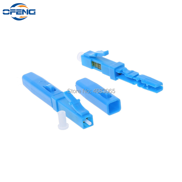 100/200Pcs FTTH fiber optic cable LC fast connector LC UPC single mode SM communication equipment optical fibre field connector