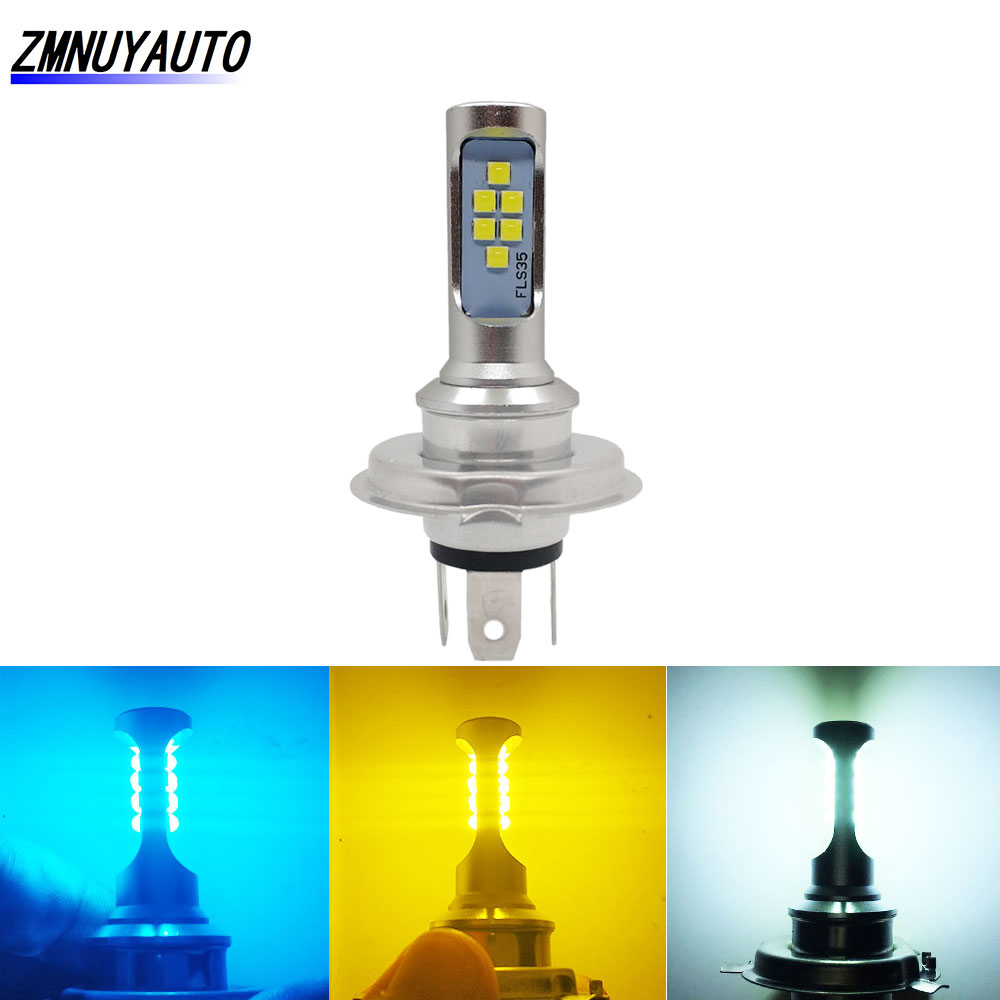 H4 <font><b>Led</b></font> Moto <font><b>HS1</b></font> Bulb 12V Hi-Lo Beam DRL Lamp ATV <font><b>Led</b></font> <font><b>Headlight</b></font> Bulbs Scooter Fog Light For Motorcycle White Golden Yellow Ice Bl image