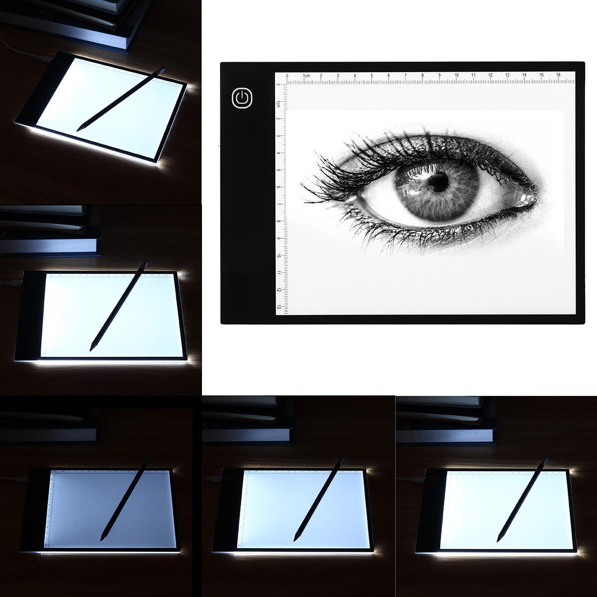 LEORY A5 цифровой планшет светодиодная световая коробка Трассировка художественная доска ремесло Рисование копировальная площадка настольны...