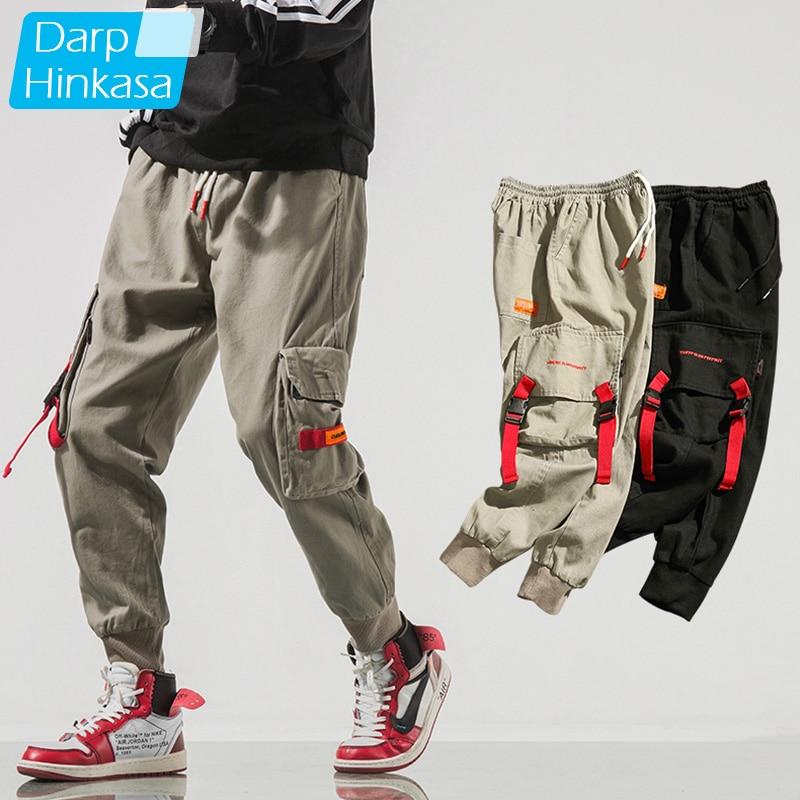 DARPHINKASA Men Hip Hop Black Cargo Pants Joggers Sweatpants Overalls Men Streetwear Harem Pants Men Fashions Trousers(China)