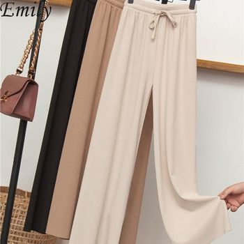 Womens Spring Summer Pants Cotton Linen Solid Elastic waist Candy Colors Harem Trousers Soft high quality for Female ladys