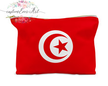 Tunisia cosmetic bag personalized makeup bag small cosmetic bag toiletry bag zipper pouch bridesmaid gift(China)