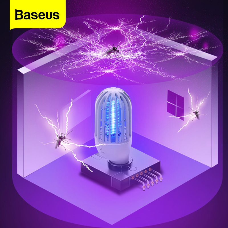 Baseus Mosquito Killer Lamp LED Electronic Bug Zapper Insect Killer Flies Trap Lamp Socket Electric Anti Mosquito Night Light
