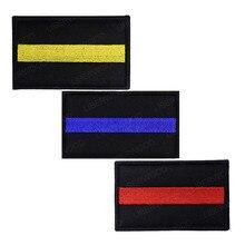 Тонкая синяя линия полицейский боевой патч Полицейский спецназ Тактический NYPD патч