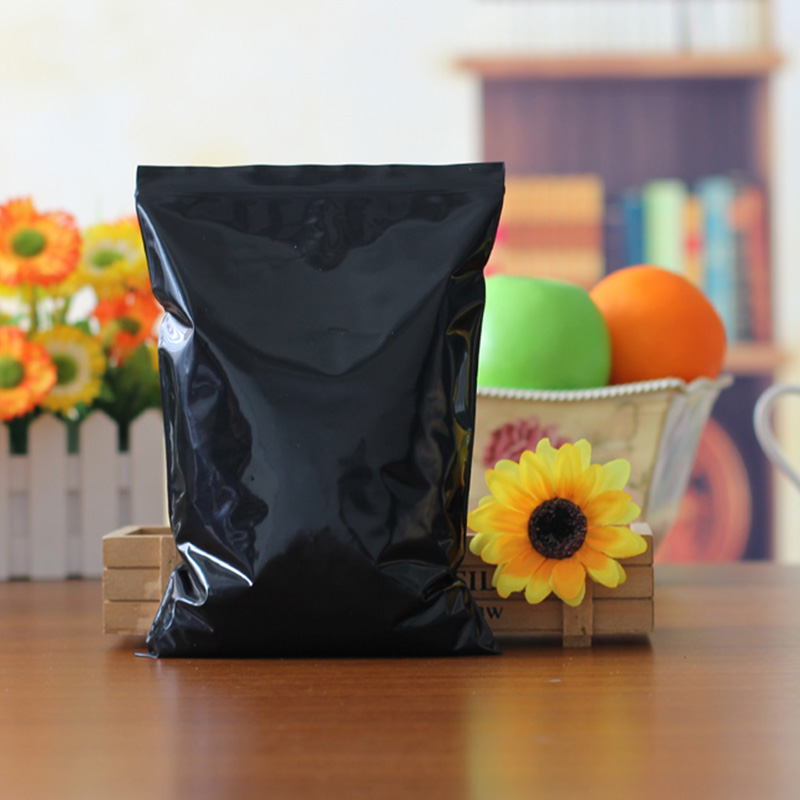 Hot Sale 6x9 7x10cm PE Bags 100pcs/lot Black And Blue Gifts Pouches Favor Fashion Jewelry Necklace Happiness Candy Snack Packing