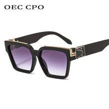 새로운 빈티지 스퀘어 선글라스 여성 남성 레트로 브랜드 디자이너 패션 다채로운 태양 안경 여성 안경 UV400 Oculos De Sol