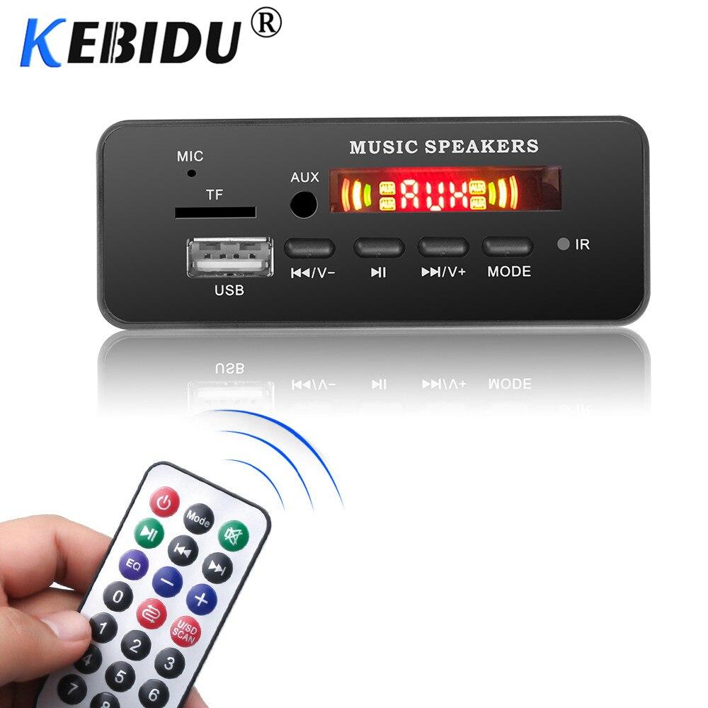 MP3 декодер Kebidu, автомобильная плата, USB, Bluetooth V5.0, запись громкой связи, встроенный модуль 5 В-12 в, дистанционное управление, FM, AUX радио