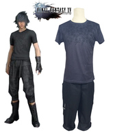 Final Fantasy XV Noctis Lucis Caelum Cosplay Costumes Summer Short Sleeve Skull T shirt+Short Daily Wear Or Custom Make Any Size