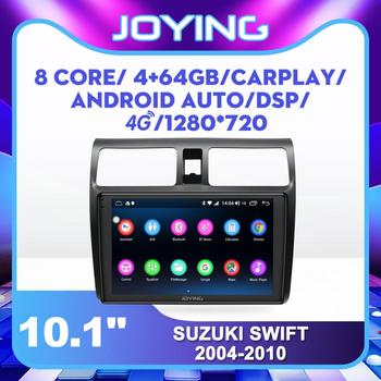 Joying 10.1 Android Car Radio for Suzuki Swift 2004-2010 GPS Carplay Android-auto 4G SIM Card DSP SPDIF Subwoofer DVR DAB OBD image