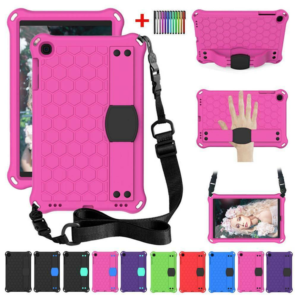 Kids Shockproof EVA Tough <font><b>Case</b></font> Cover For Samsung Galaxy Tab A 10.1 2019 <font><b>T510</b></font> T515 With Shoulder Strap Stand Tablet <font><b>Case</b></font> image