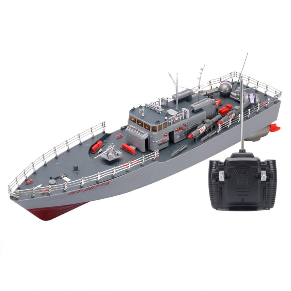 50cm 1:115 RC Boat Toys <font><b>Remote</b></font> <font><b>Control</b></font> Warship ​Military ​Model Boat Toy for Army Fans Present Gift US Plug image