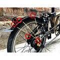 На каждый день  3 цвета складной велосипед переднее и заднее крыло titanium винты для brompton болты для крыла TI запчасти