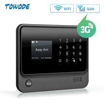 Towode Wireless Home Security WIFI GSM 3G GPRS APP Remote Control Alarm system panel with EN RU FR ES SE NL TR