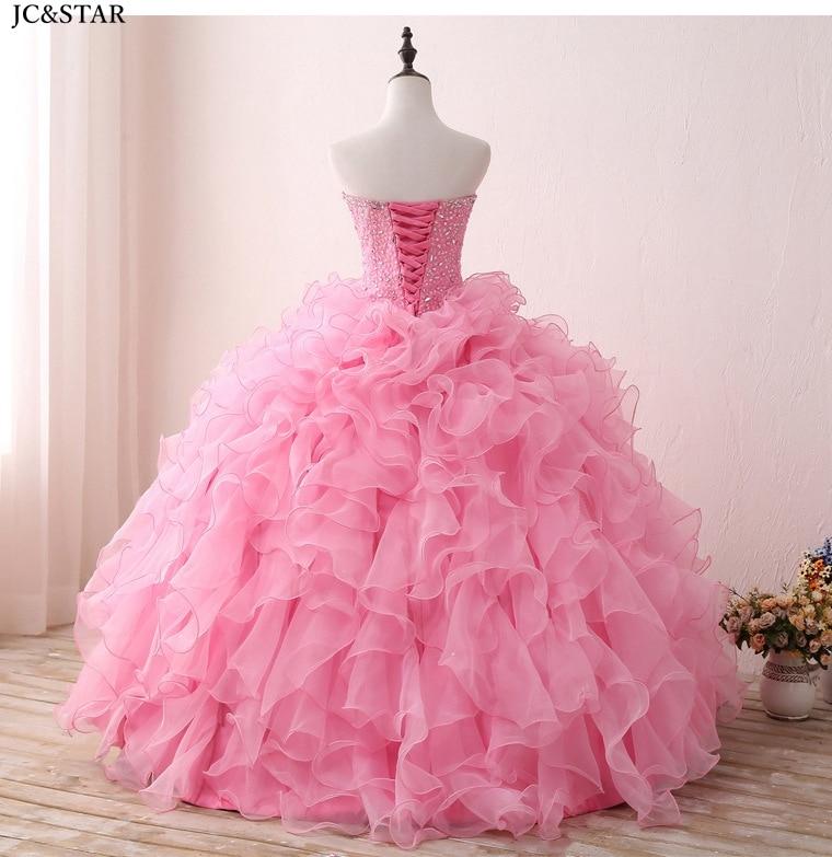 Купить с кэшбэком crystal bolero ball gown new organza crystal ruffled pink Puff Sleeve 2 pieces prom dress fluffy vestido de noche largo elegante