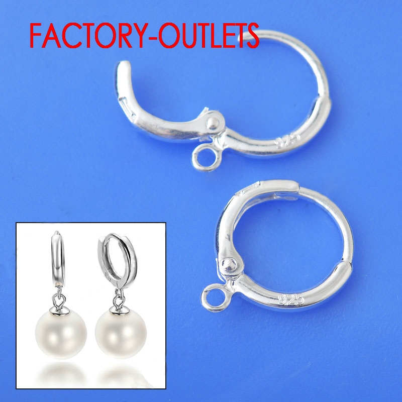 10PCS Genuine 925 Sterling Silver Earrings Accessories Fashion Jewelry Findings Design DIY Jewelry 925 Stamped Factory Price