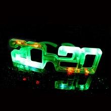 Новые рождественские Украшения Мигающий Светодиодный светильник очки подарок яркие очки новогодние вечерние украшения