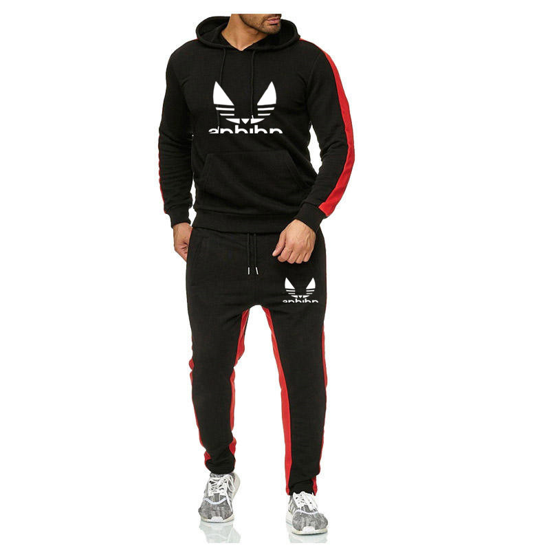 European And American Fashion Leisure Men's Sports Suit Brand Slim Fit Pullover Hoodie Men's Running Suit Fashion Trend Version