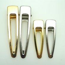 Pinces à cheveux en or/rhodium, 10 pièces, épingle à cheveux, Base vide, pour la fabrication bijoux à bricoler soi-même perles, accessoire artisanal