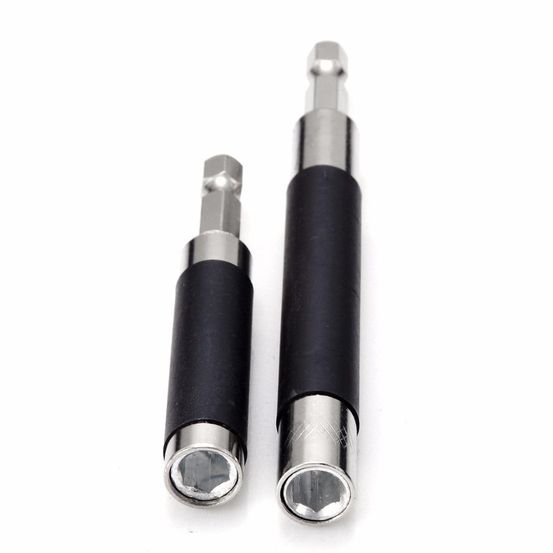 Adaptador de Tornillo hexagonal para herramientas para el hogar, 2 uds, toma de Portabrocas de extensión, controlador de impacto magnético