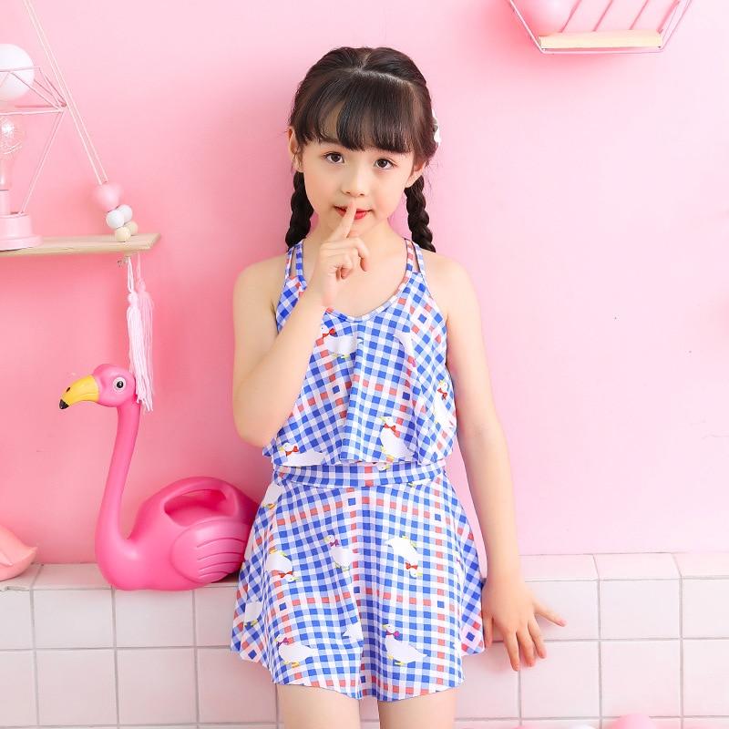 2019 New Style KID'S Swimwear One-piece 30-55 Jin Children Fashion Korean-style Girls Swimming Suit Nt668076