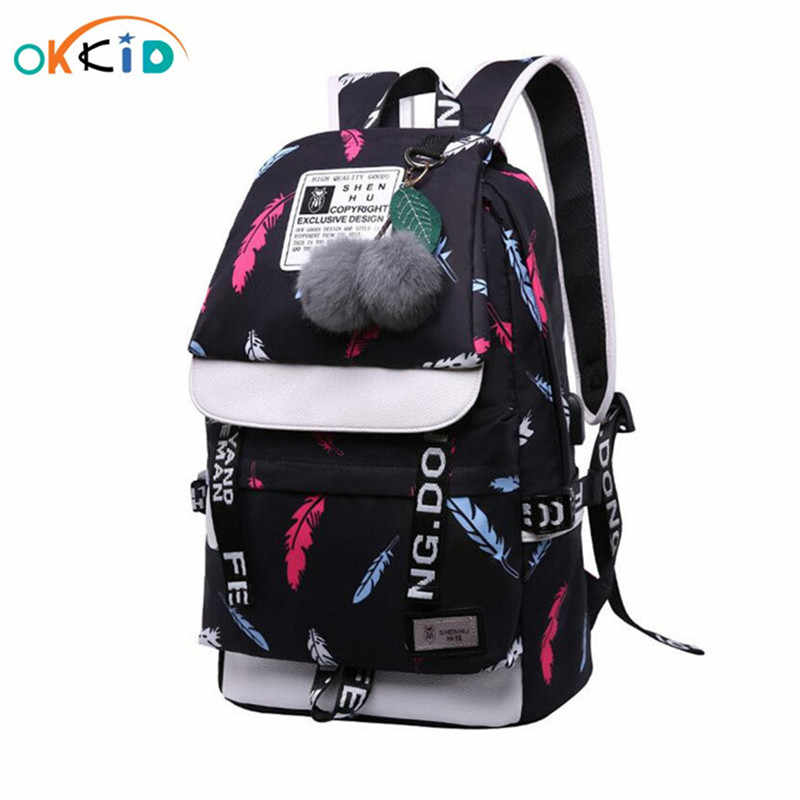 school bags for teenage girls black fashion printing school backpack women shoulder bag children backpacks for girls schoolbag