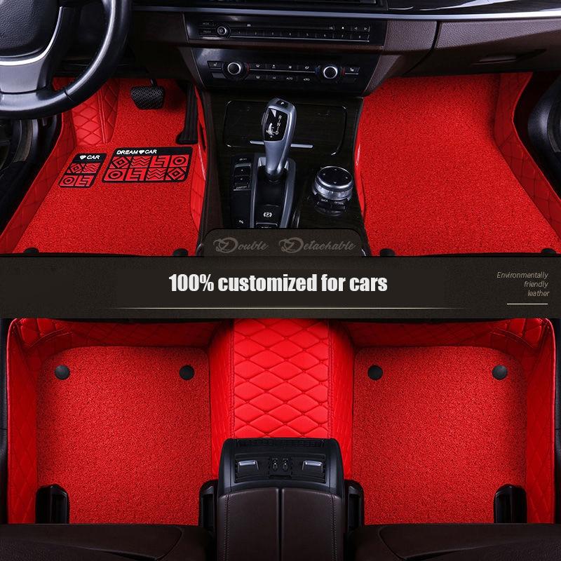 Alfombrillas de cuero personalizadas para Hyundai tucson 2019 elantra sonata 2011 veloster santa fe accent 2012 solaris Accesorios