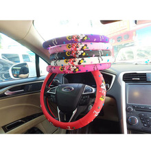 Princess Mickey Car Steering-Wheel Cover For Auto Interior Decoration Cartoon Very Cute Steering Wheel Covers For Girls