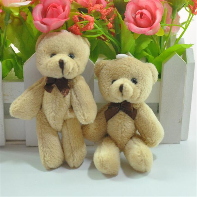1pcs Mini Creative Bow Tie Bear Plush toys for 3 years old Premium pp Cotton stuffed Decorative Pendant Give Boy & Girl Holiday