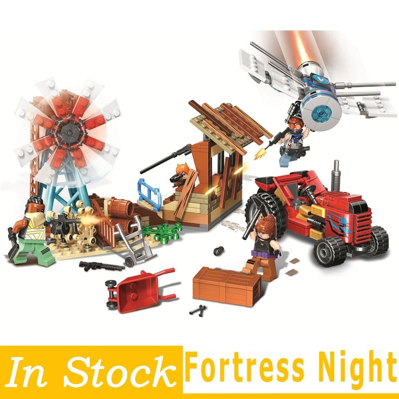 Fortress Night  DIY Model Building Blocks bricks Educational Toys Kids Gifts Toys Mini Dolls Christmas Gifts 1