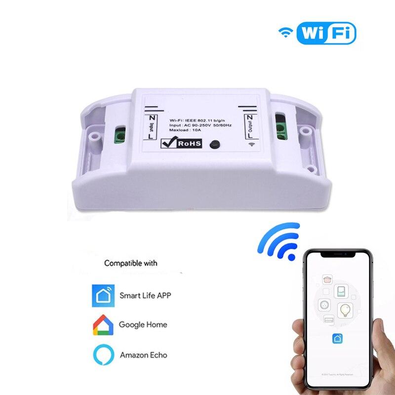WiFi Smart Switch 2200W DIY Wireless Remote Switch APP Control Automation Relay Module Smart Home For Amazon Alexa Google Home