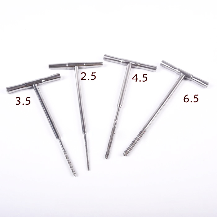 Orthopedic Tools Stainless Steel Bone Tap  T Handle Veterinary Orthopedics Instrument Handpiece