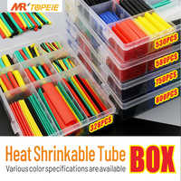 164/328/530/580/750/800pcs 2:1 Polyolefin Shrinking Assorted Heat Shrik Tube wrap wire cable insulated sleecing tubing set