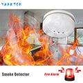 Домашняя охранная беспроводная сигнализация детектор дыма для домашняя система охранной сигнализации датчик высокого качества независим...